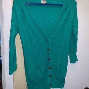 Mossimo Supply Co. Sweaters - Mossimo green button up cardigan